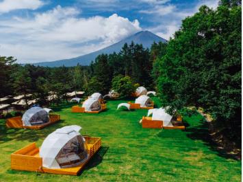 PICA Fujiyamaのアメージングドームでグランピングの料金プランや食事メニューに口コミ紹介