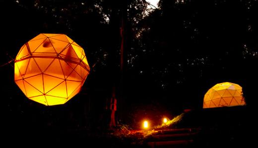 風の国 グランピング島根の球体テント料金プランやアメニティーに口コミ紹介|温泉リゾートでグランピング