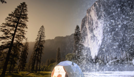 グランピングに人気のドームテントの耐久性はどのくらい?台風や雪にも耐えられるって本当?